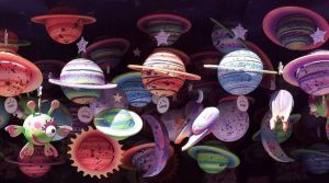 Suspending toy planets