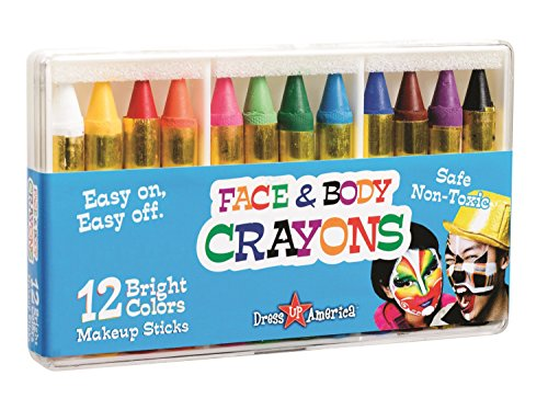 12 Color Face and Body Crayons