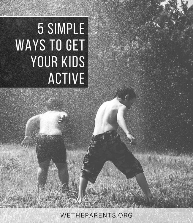 Keeping Your Kids Active - Children playing outdoors with a sprinkler