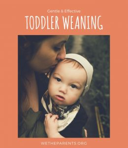 Mother weans toddler