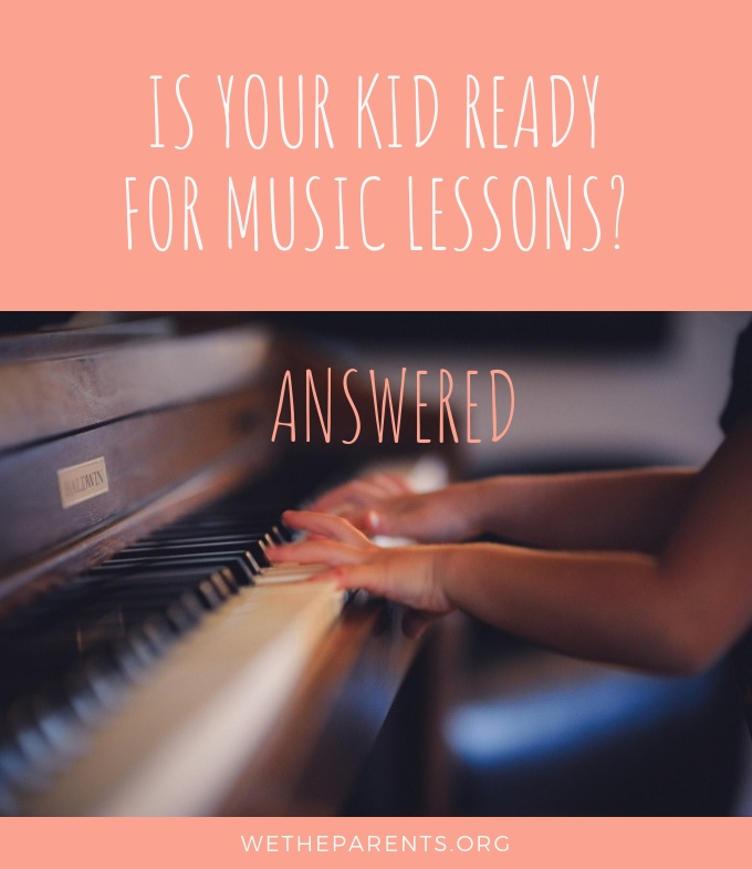 Child ready for piano lessons