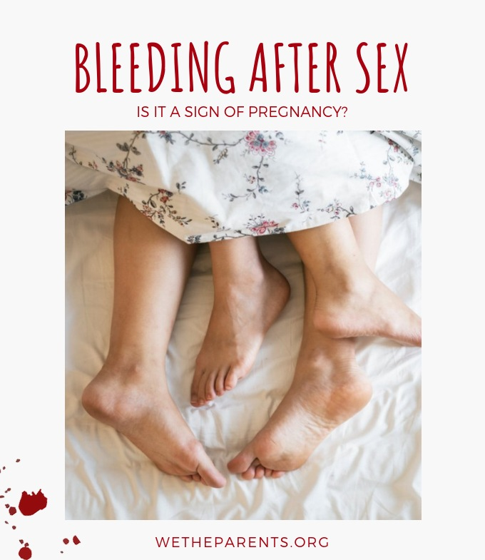 Pregnancy and bleeding after sex