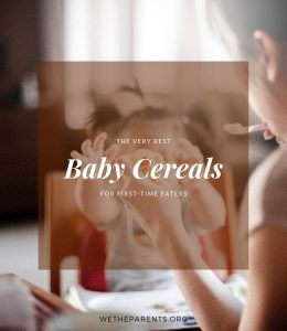 Baby cereals for first time eaters