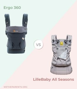 Ergo vs Lillebaby Baby Carriers side by side