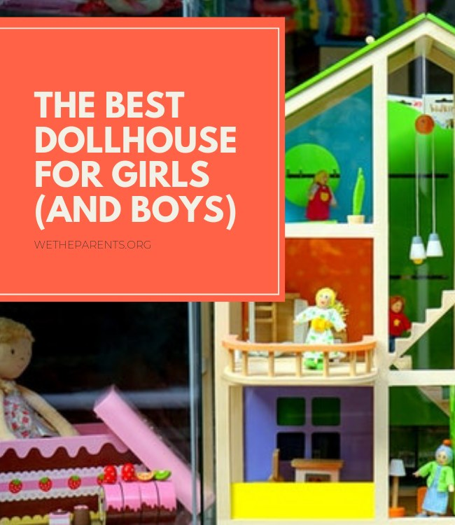 A beautiful wooden dollhouses