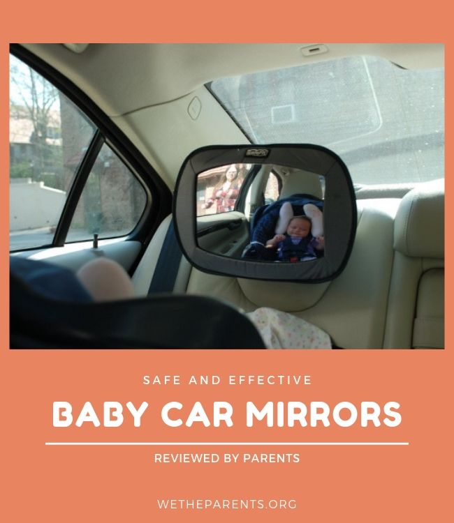 Baby car mirror within a parent's car.