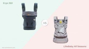Ergo and lillebaby carriers side by side